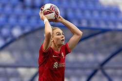 BIRKENHEAD, ENGLAND - Sunday, August 29, 2021: Liverpool's Rhiannon Roberts takes a throw-in during the FA Women's Championship game between Liverpool FC Women and London City Lionesses FC at Prenton Park. London City won 1-0. (Pic by Paul Currie/Propaganda)