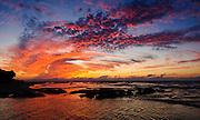 Mediterranean Sunset Photographed in Israel off the shore og Kibbutz Maagan Michael