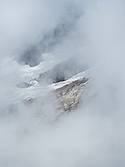 This is a brief glimpse, from Terror Basin, of the little glacier at the base of McMillan Spire in Washington.