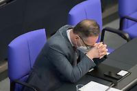 DEU, Deutschland, Germany, Berlin, 25.02.2021: Bundesaussenminister Heiko Maas (SPD) in der Plenarsitzung im Deutschen Bundestag.