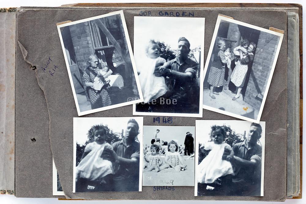 happy family moments photo album page 1948 England