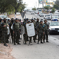 Militarised streets in Tegucigalpa