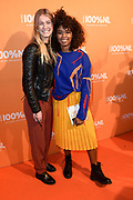 100% NL Awards 2018 in Panama, Amsterdam.<br /> <br /> Op de foto:  Shary-An Nivillac (R) met haar vriendin