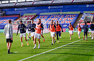 Leeds United players warming up  during the Premier League match between Crystal Palace and Leeds United at Selhurst Park, London, England on 7 November 2020.
