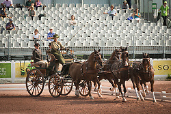 Alison Stroud, (USA), Anesco 4, Mozes, Olando, Ulco, Zenno - Eventing jumping - Alltech FEI World Equestrian Games™ 2014 - Normandy, France.<br /> © Hippo Foto Team - Dirk Caremans<br /> 04/09/14