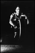 Peter Spurrier Sports  Photo.email Photo Peter Spurrier.Leander Boathouse Steve Redgrave training on the ergo.   [Mandatory Credit, Peter Spurier/ Intersport Images].