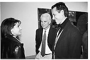 Steve Martin and Richard E. Grant at a Clemente private view, Gagosian Gallery, 23 March  1996. © Copyright Photograph by Dafydd Jones 66 Stockwell Park Rd. London SW9 0DA Tel 020 7733 0108 www.dafjones.com