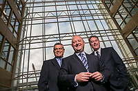 No Repro Fee<br /> 18-9-2013<br /> Picture shows from left  Riccardo Brizzi, COO,SQS Group ; Phil Codd, Managing Director, SQS Ireland;and  Dik Vos, Chief Executive Officer, SQS Group; at the announcement that SQS, the world's leading specialist in software quality, has today announced further expansion of its Irish operations, with the creation of an additional 75 jobs over the coming three years.  Already employing over 200 people across its Dublin and Belfast operations, SQS is committed to increasing its workforce by over 35 per cent by 2016. <br /> Pic:Naoise Culhane Photography - no fee<br /> For Business Desk