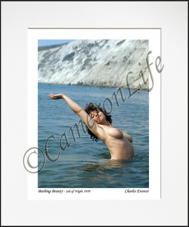 """Bathing Beauty - An affordable archival quality matted print ready for framing at home.<br />  Ideal as a gift or for collectors to cherish, printed on Fuji Crystal Archive photographic paper set in a neutral mat (all mounting materials are acid free conservation grade). <br />  The image (approx 6""""x8"""") sits within a titled border. The outer dimensions of the mat are approx 10""""x12""""."""