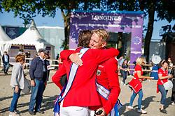RIESENBECK - FEI Jumping European Championship Riesenbeck 2021<br /> <br /> THIEME Andre (GER), FUCHS Martin (SUI)<br /> Impressionen am Abreiteplatz<br /> Individual Final over 2 Rounds<br /> Round 2<br /> <br /> Hörstel-Riesenbeck, Reitanlage Riesenbeck International<br /> 05. September 2021<br /> © www.sportfotos-lafrentz.de/Stefan Lafrentz