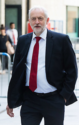 London June 11th 2017. Labour Leader Jeremy Corbyn arrives at the BBC in London ahead of appearing on the Andrew Marr Show.