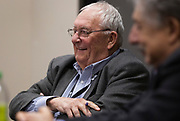 Dave Zweifel, left, laughs during the Cap Times Idea Fest 2018 at the Pyle Center in Madison, Wisconsin, Saturday, Sept. 29, 2018.