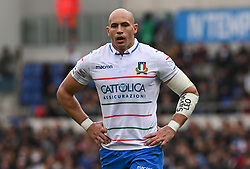 March 16, 2019 - Rome, Italy - Sergio Parisse during RBS Six Nations Rugby Championship, Italia v Francia at the Olympic Stadium in Rome, on march 16, 2019  (Credit Image: © Silvia Lore/NurPhoto via ZUMA Press)