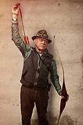 Senior Man Bow and Arrow