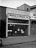 1962 - Interior and exterior view of Vision and Sound Television Centre premises at Rathmines