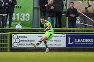 Forest Green Rovers Liam Noble(15) crosses the ball during the Vanarama National League match between Forest Green Rovers and Guiseley  at the New Lawn, Forest Green, United Kingdom on 22 October 2016. Photo by Shane Healey.