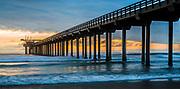 Scripps Memorial Pier At Sunset In La Jolla