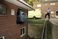 2007 - Van misses turn, ends up in Dayton apartment building