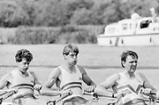 Henley on Thames, England, 1989 Henley Royal Regatta, River Thames, Henley Reach,  [© Peter Spurrier/Intersport Images], The Queen Mother Challenge Cup, Bow Richard STANHOPE, Rory HENDERSON, Martin CROSS,