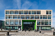 EXTERNAL VIEW - BOROUGHMUIR HIGH SCHOOL FRONT ENTRANCE