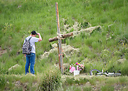 """Konor Anderson spends some time at a memorial for his friend and classmate Sydney Judge, the 16-year-old Jackson girl who died Sunday in a car crash near the Old West Cabins south of Jackson. """"I couldn't believe it when she was gone,"""" Anderson said. """"My heart just dropped because we used to talk a little bit and we had classes together. It's been a long couple of days."""" A celebration of life will be held 5 p.m. Thursday at Mill Iron Ranch on Horse Creek Road."""