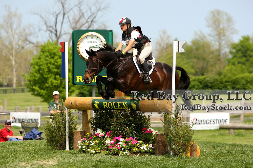Jessica Phoenix and Exponential at the 2011 Rolex Kentucky Three-Day Eventing in Lexington, KY.