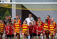 Premier Mateusz Morawiecki odwiedził szkółkę piłkarską