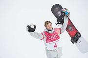 Chris Corning, USA, at the mens snowboard big air finals at the Pyeongchang 2018 Winter Olympics on 24th February 2018, at the Alpensia Ski Jumping Centre in Pyeongchang-gun, South Korea
