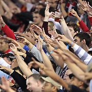 New York Red Bulls fans during the New York Red Bulls V Toronto FC  Major League Soccer regular season match at Red Bull Arena, Harrison. New Jersey. USA. 29th September 2012. Photo Tim Clayton