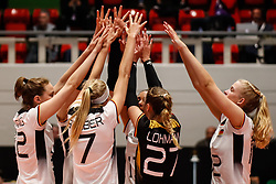 16.05.2019, Montreux, SUI, Montreux Volley Masters 2019, Deutschland vs Polen, im Bild Germany cheering after successful block // during the Montreux Volley Masters match between Germany and Poland in Montreux, Switzerland on 2019/05/16. EXPA Pictures © 2019, PhotoCredit: EXPA/ Eibner-Pressefoto/ beautiful sports/Schiller<br /> <br /> *****ATTENTION - OUT of GER*****