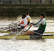 © Peter Spurrier Sports Photo<br />e-mail  pictures@rowingpics.com<br />tel 44 (0) 7973 819 551<br />Start of the 2000 'ThamesWorld Sculling Challenge'<br /><br />Iztok Copp (SLO)<br />Aquile Abdulla (USA) 20010301 Thames World Sculling Challenge, Putney, London