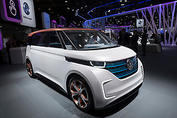 Volkswagen, VW Budd.E electric concept minivan  at Paris Motor Show 2016