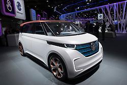 Volkswagen, VW Budd.E electric concept minivan  at Paris Motor Show 2016