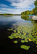 A beautiful, late summer morning on McCann Lake, near Chetek, Wisconsin, USA.