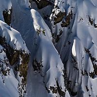 Forrest Shearer, splitboarding the Dolomites, Tre Cime, Italy.