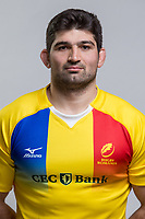 CLUJ-NAPOCA, ROMANIA, FEBRUARY 27: Romania's national rugby player Andrei Gorcioaia pose for a headshot, on February 27, 2018 in Cluj-Napoca, Romania. (Photo by Mircea Rosca/Getty Images)