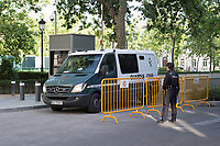 Sandro Rosell goes to prison, after testifying before the judge of the National Court for the crime of money laundering of Sandro Rosell, former president of Barcelona Football Club in Madrid, Spain. May 25, 2017. (ALTERPHOTOS/Rodrigo Jimenez)