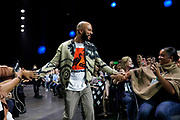 Attendees welcome Common as he gets ready to take the stage at QuickBooks Connect 2019 on Thursday, Nov. 7, in San Jose, Calif. (Alison Yin/AP Images for Quickbooks)