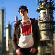 Portrait of Alec Loorz, a teenage environmental activist.