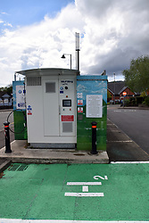 Riversimple refuelling point for hydrogen electric cars, Abergavenny, Wales May 2021