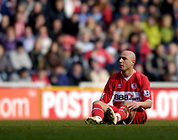 Photo: Jed Wee.<br /> Middlesbrough v Newcastle United. The Barclays Premiership. 09/04/2006.<br /> <br /> There is no fairytale finish for Middlesbrough and Massimo Maccarone.