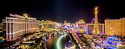 Nighttime Panorama of the Strip, Las Vegas, Nevada USA