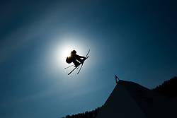 February 18, 2018 - Pyeongchang, South Korea - ALEX BEAULIEU-MARCHAND of Canada competes in the Mens Ski Slopestyle competition Sunday, February 18, 2018 at Phoenix Snow Park at the Pyeongchang Winter Olympic Games.  Photo by Mark Reis, ZUMA Press/The Gazette (Credit Image: © Mark Reis via ZUMA Wire)