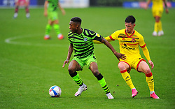 Ebou Adams of Forest Green Rovers holds off Liam Kinsella of Walsall - Mandatory by-line: Nizaam Jones/JMP - 03/10/2020 - FOOTBALL - the innocent [insert name here] stadium - Nailsworth, England - Forest Green Rovers v Walsall - Sky Bet League Two