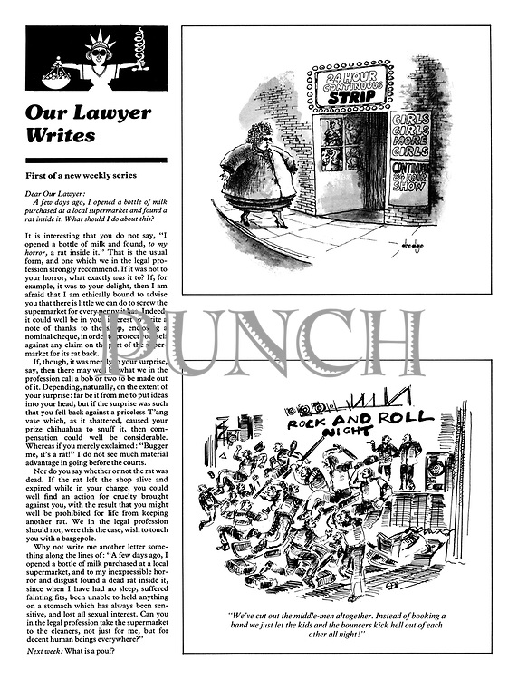 """Page 109, 17 January 1979. """"Our Lawyer Writes:""""; two cartoons."""