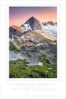 Canadian Rockies Limestone Lakes Poster