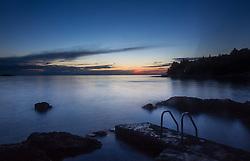 THEMENBILD - URLAUB IN KROATIEN, Sonnenuntergang in der Plava Laguna, aufgenommen am 01.07.2014 in Porec, Kroatien // Sonnenuntergang at the Plava Laguna at Porec, Croatia on 2014/07/01. EXPA Pictures © 2014, PhotoCredit: EXPA/ JFK
