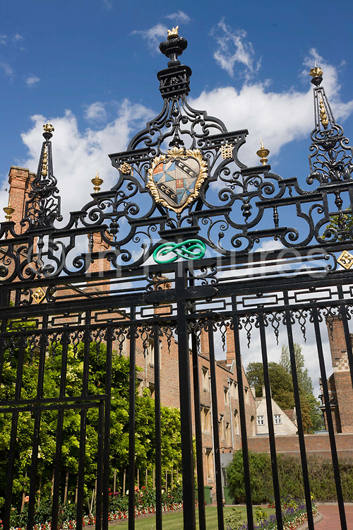 The tall wrought iron gates of Magdalene College, Cambridge. Magdalene College is a constituent college of the University of Cambridge, England. The college was founded in 1428 as a Benedictine hostel, in time coming to be known as Buckingham College, before being refounded in 1542 as the College of St Mary Magdalene. Magdalene College has some of the grandest benefactors including Britain's premier noble the Duke of Norfolk, the Duke of Buckingham and Lord Chief Justice Sir Christopher Wray. However the refoundation was largely the work of Sir Thomas Audley, Lord Chancellor under Henry VIII. The College's most famous alumnus is Samuel Pepys, whose papers and books were donated to the College upon his death, and are now housed in the Pepys Building.