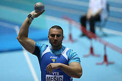 07.03.2014, Ergo Arena, Sopot, POL, IAAF, Leichtathletik Indoor WM, Sopot 2014, Tag 1, im Bild Kemal Mesic (BIH) competite during the Shot Put qualifications // Kemal Mesic (BIH) competite during the Shot Put qualifications during day one of IAAF World Indoor Championships Sopot 2014 at the Ergo Arena in Sopot, Poland on 2014/03/07. EXPA Pictures © 2014, PhotoCredit: EXPA/ Newspix/ Michal Fludra<br /> <br /> *****ATTENTION - for AUT, SLO, CRO, SRB, BIH, MAZ, TUR, SUI, SWE only*****