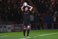 Adam Matthews of Sunderland (2) takes a throw in during the EFL Sky Bet League 1 match between Doncaster Rovers and Sunderland at the Keepmoat Stadium, Doncaster, England on 23 October 2018.